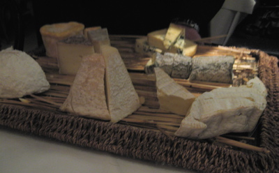 cheese tray at Galvin Bistro