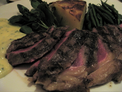 entrecote with pommes anna