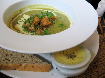 potato leek soup at the Marlborough Tavern