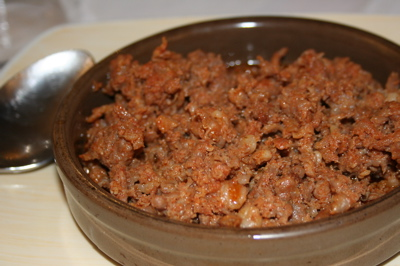chorizo crumbles at Jose y Maria