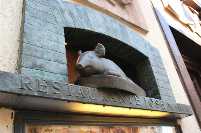 the pig's the thing at Restaurant Jose y Maria in Segovia