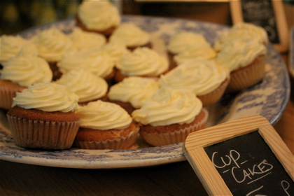 cupcakes at the Albion Cafe grocery