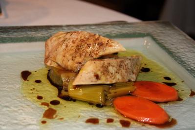 pickled foie gras at Fuente de la Acena restaurant