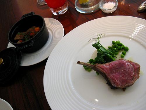 lamb chop at Maze Restaurant