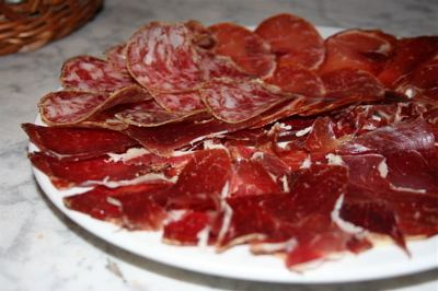 jamon Iberico, lomo Iberico and chorizo