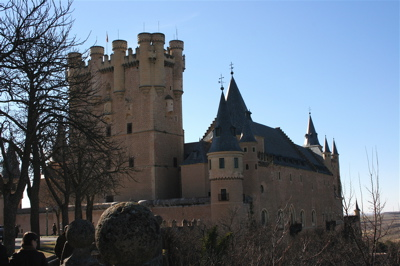The alcazar (castle) in Segovia