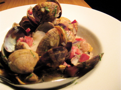 clams with ham at Fino