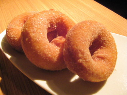 freshly-fried donuts at Fino