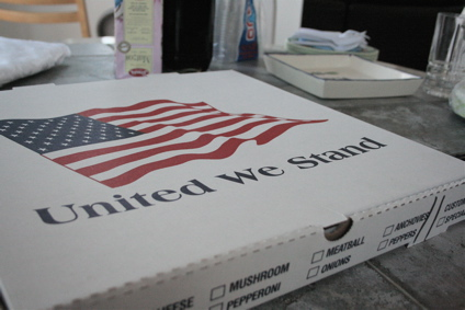 patriotic pizza box - only in America