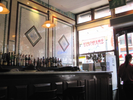 Edwardian pie-and-mash shop interior of Shanghai restaurant in Dalston