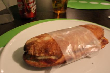 "jamon panini at Ferran Adria's ""Fast Good"" restaurant"
