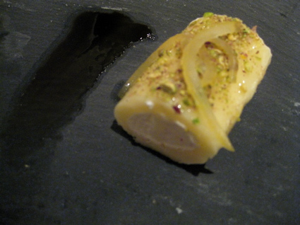 """lemon sorbet"" at Gresca"