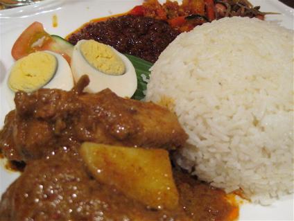 nasi lemak at Rasa Sayang restaurant
