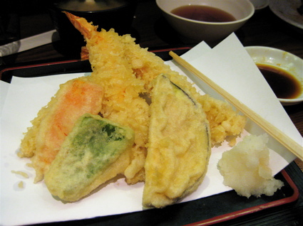 prawn and veg tempura at Ten Ten Tei