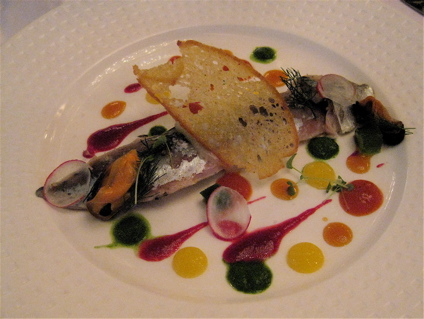 mackerel tartare starter at Restaurant Itineraires (Paris, 5th)