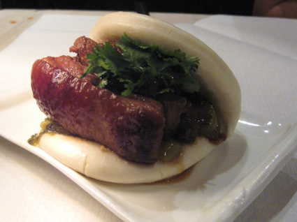 pork belly in steamed bun at Keelung