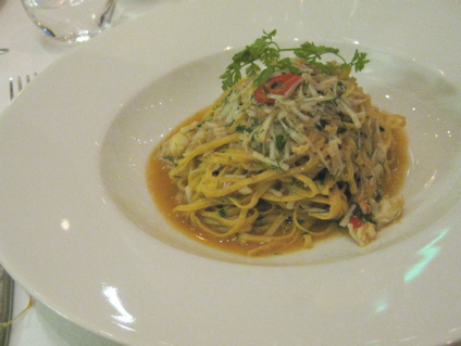 chili and crab tagliolini - with tons of dill