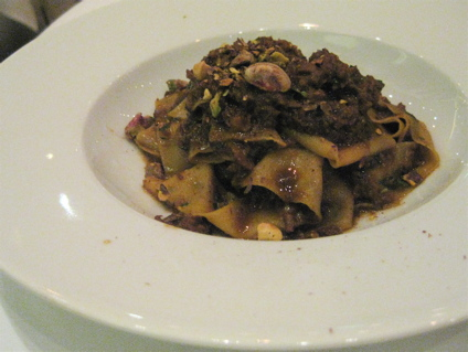 pappardelle with duck and pistachio ragu