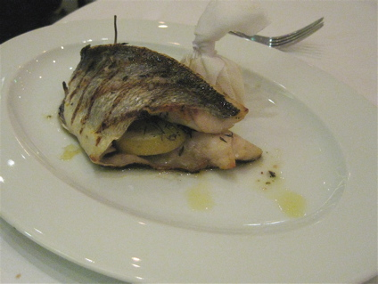 grilled sea bream at L'Anima