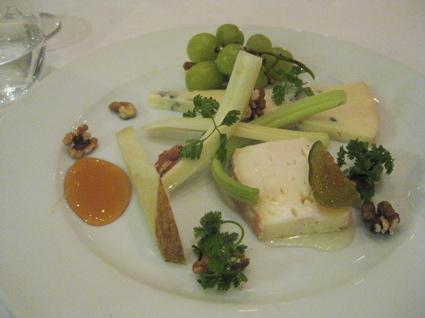 three-cheese plate