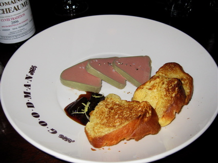 chicken liver and foie gras pate at Goodman