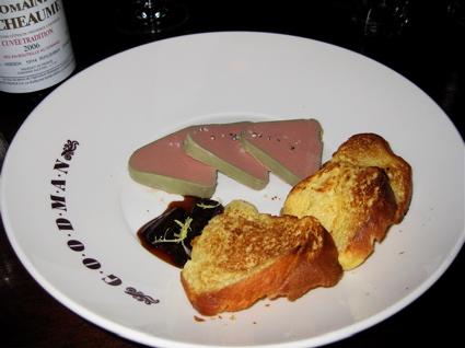 chicken liver and foie gras pate at Goodman
