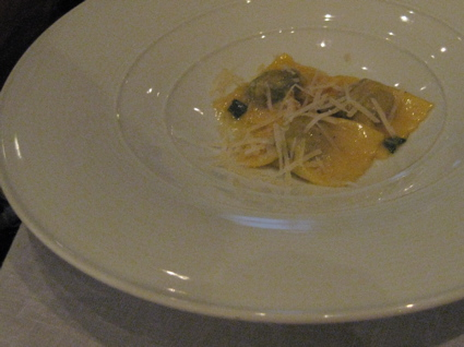 swiss chard and Sairass ricotta tortelli