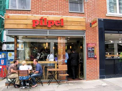 Pilpel falafel shop in Spitalfields Market