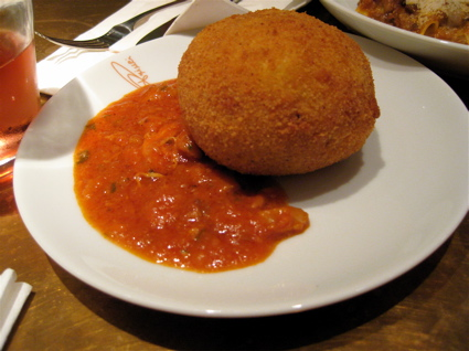 arancini at Princi - attractive, but still eh.