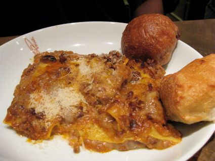 lasagne at Princi - eh.