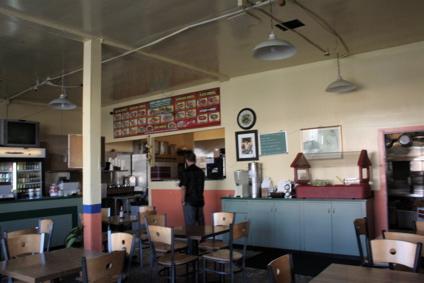 interior of Tacos Por Favor in Santa Monica, California