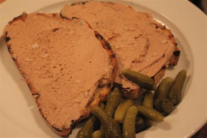 foie gras & duck liver toast