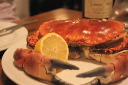 whole crab and mayonnaise