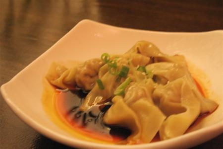 dumplings in a chili soy sauce