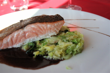 salmon at La Petite Cuisine