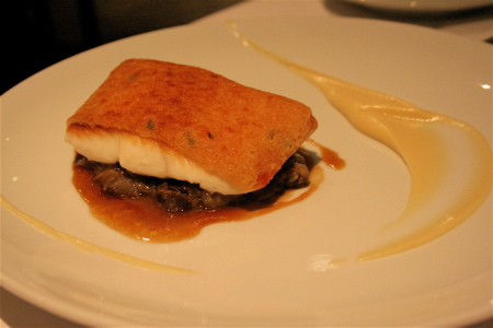 Kitchen W8 halibut beaufort crust